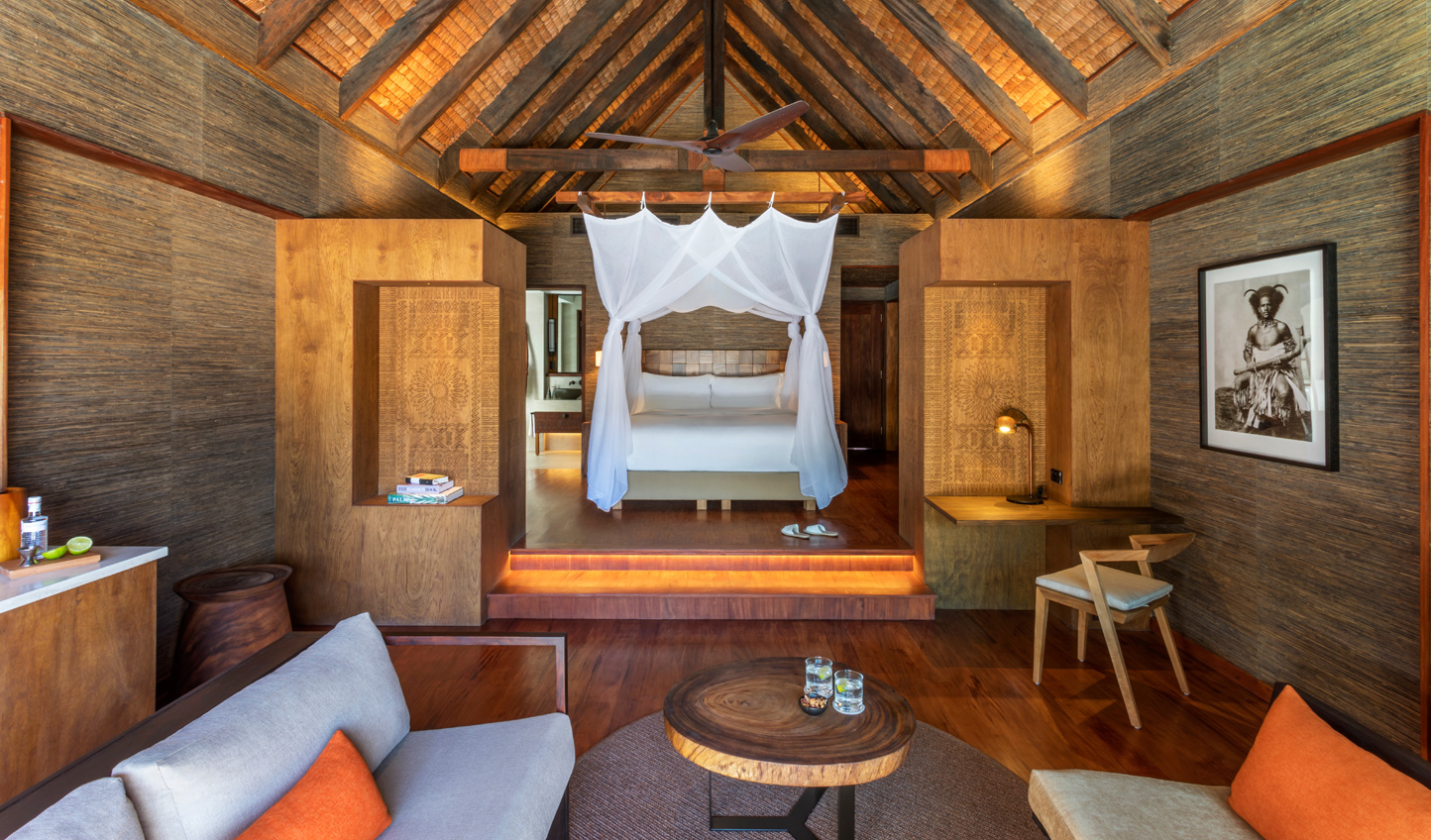 Rustic luxury brought to life through traditional Fijian design