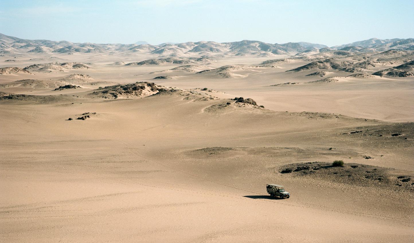 Drive across the dunes