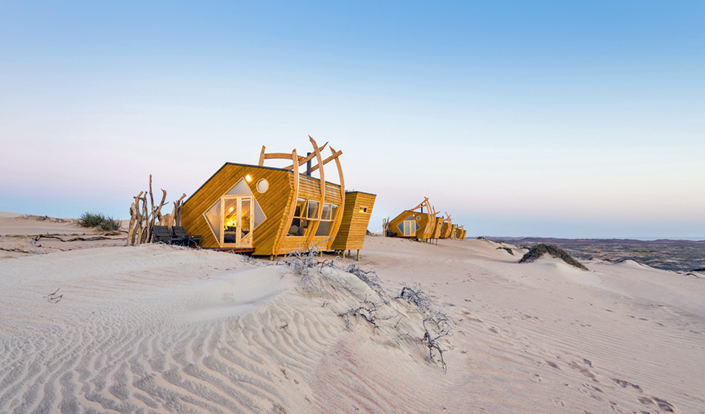Truly unique; the lodges are inspired by the shipwrecks that line the Skeleton Coast