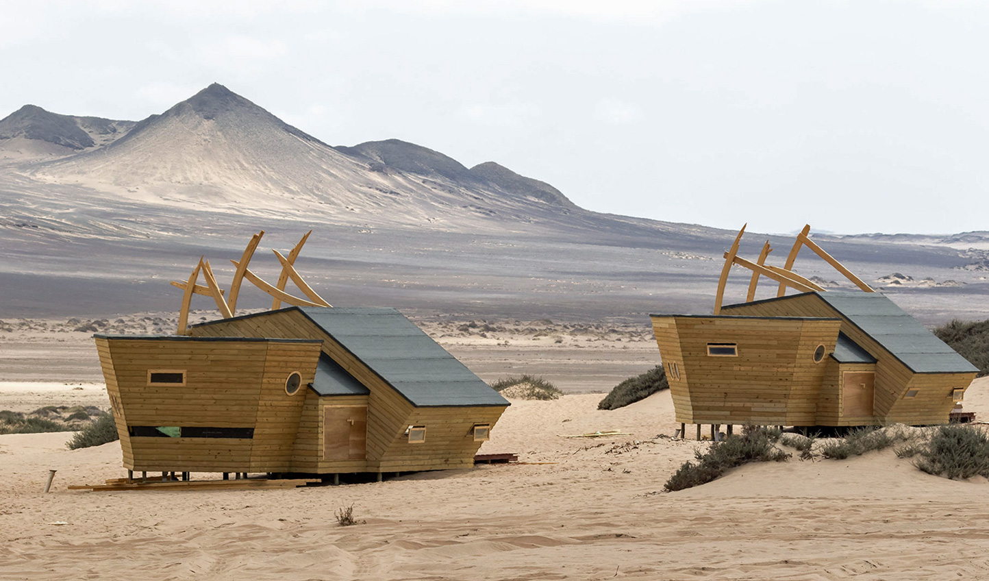 Nestled amid the dunes of the Skeleton Coast