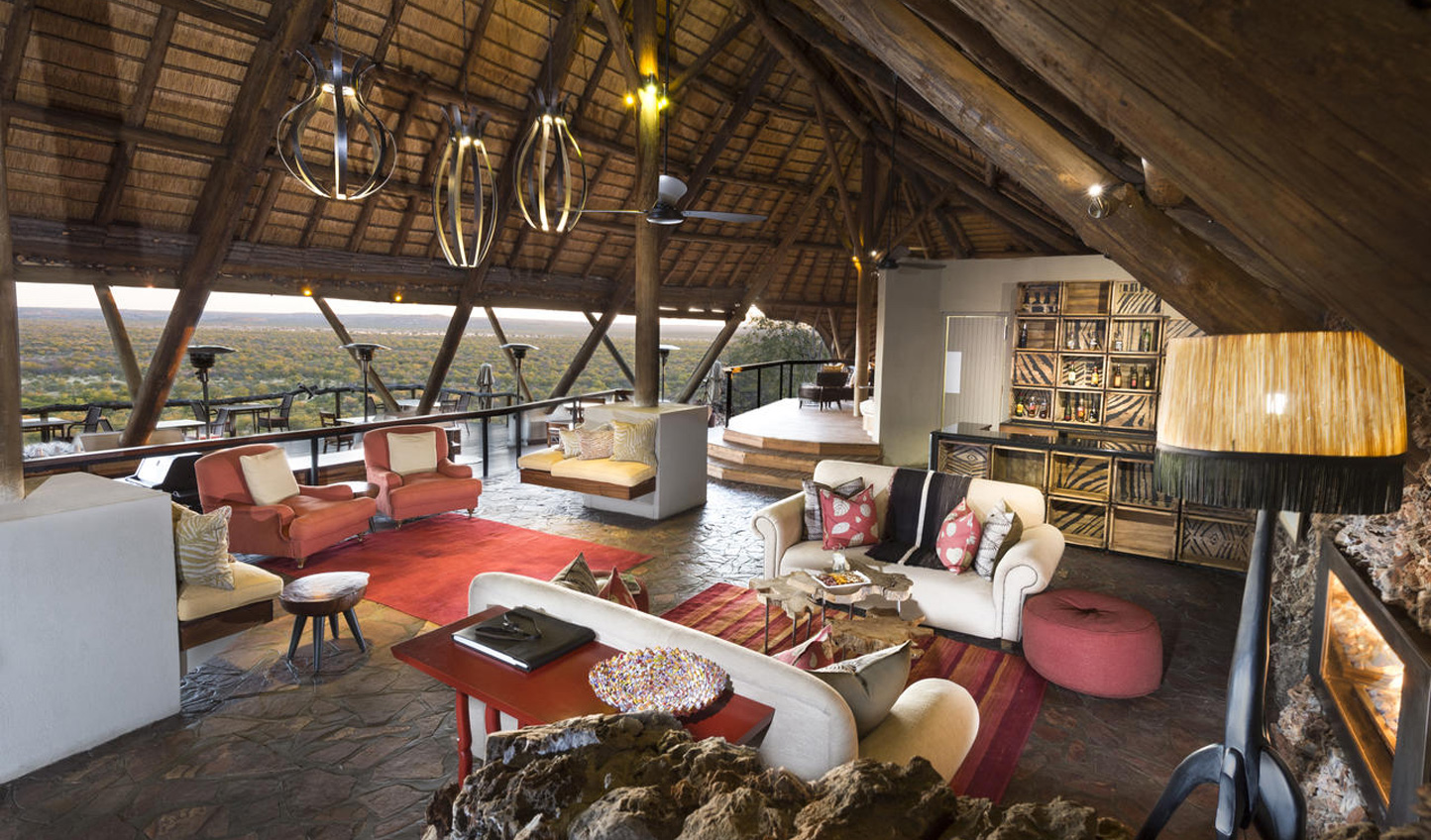 Relax in the main lodge taking in the far-reaching views of the reserve