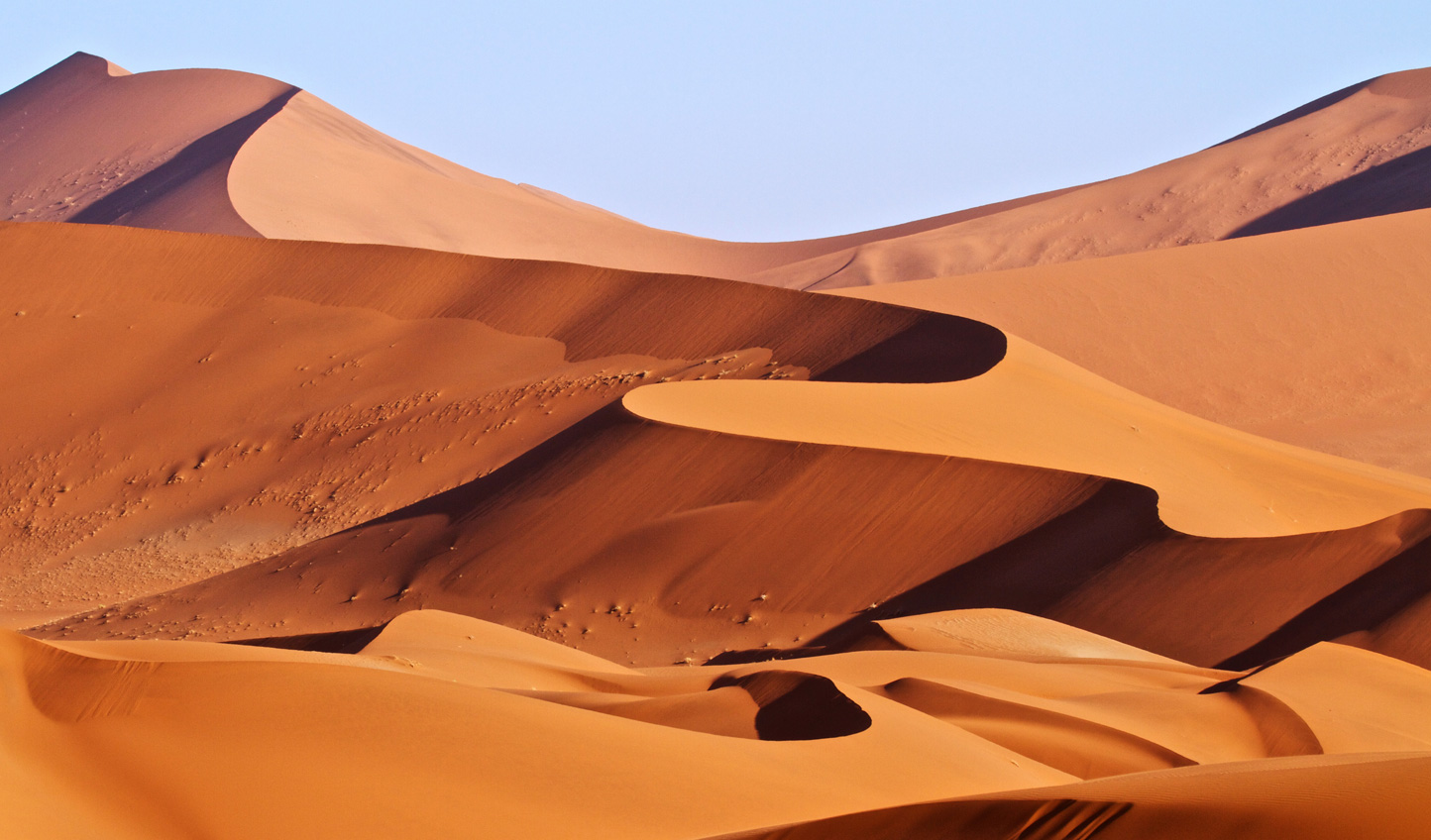 The incessant rolling red dunes of the Namibian Sand Sea are a sight like no other