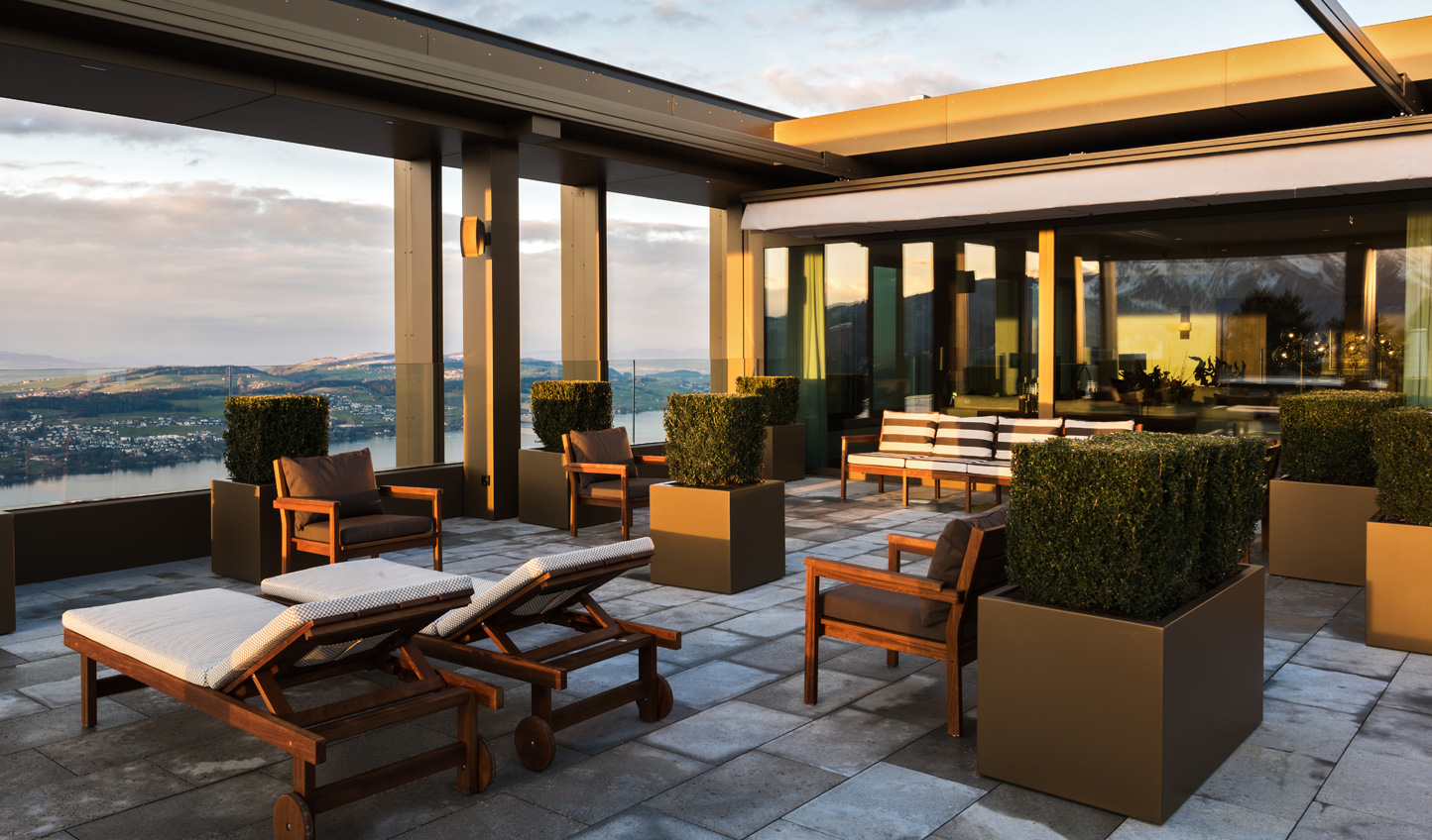 Bask in the sun on the private terrace of the Presidential Suite