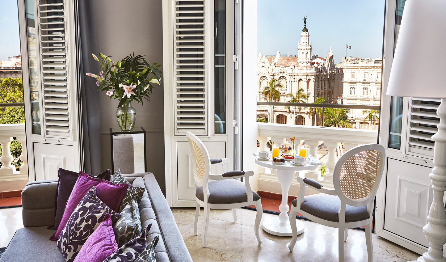 Soak in views of the Old Town from your suite