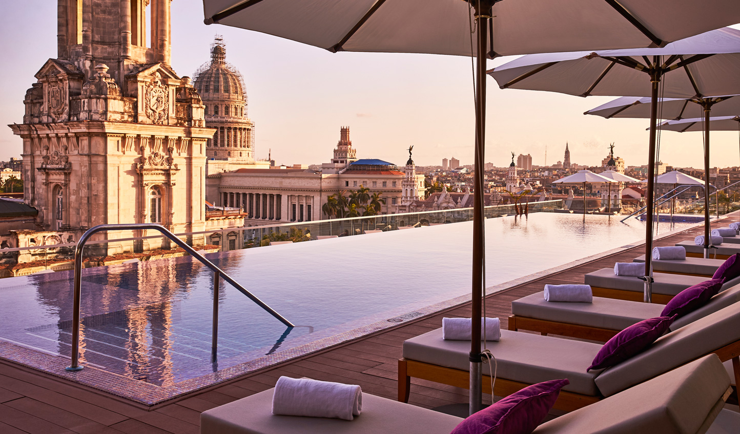 Blend modern luxury with old world splendour up on the rooftop of Gran Hotel Manzana Kempinski Old Habana