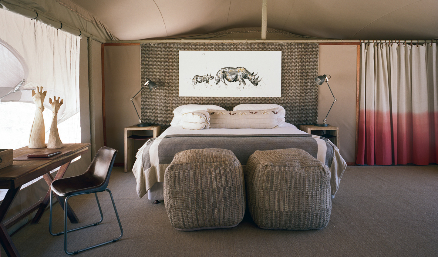 Rest up in the eco-friendly luxury of Hoanib Valley Camp