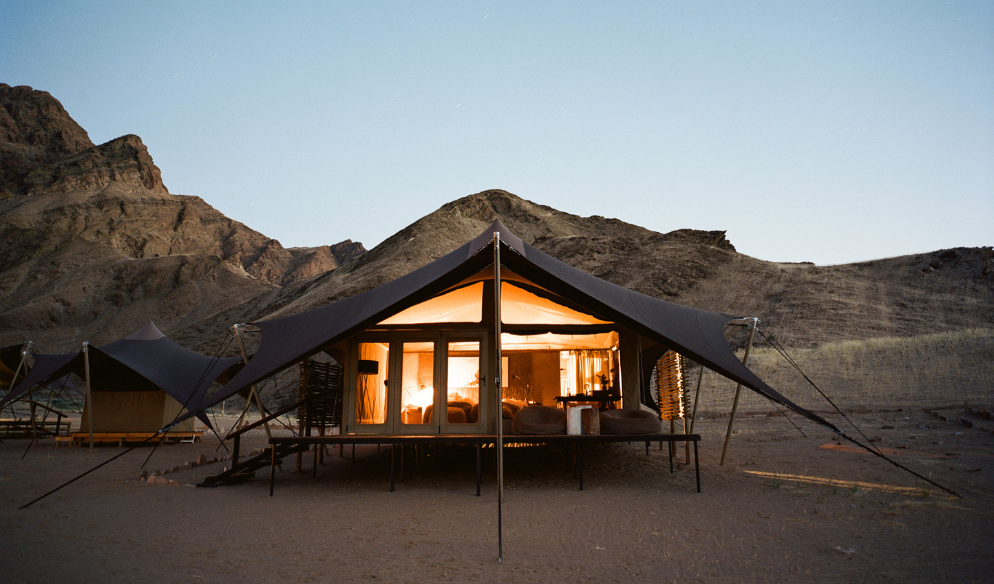 Sleep out in the wide open desert