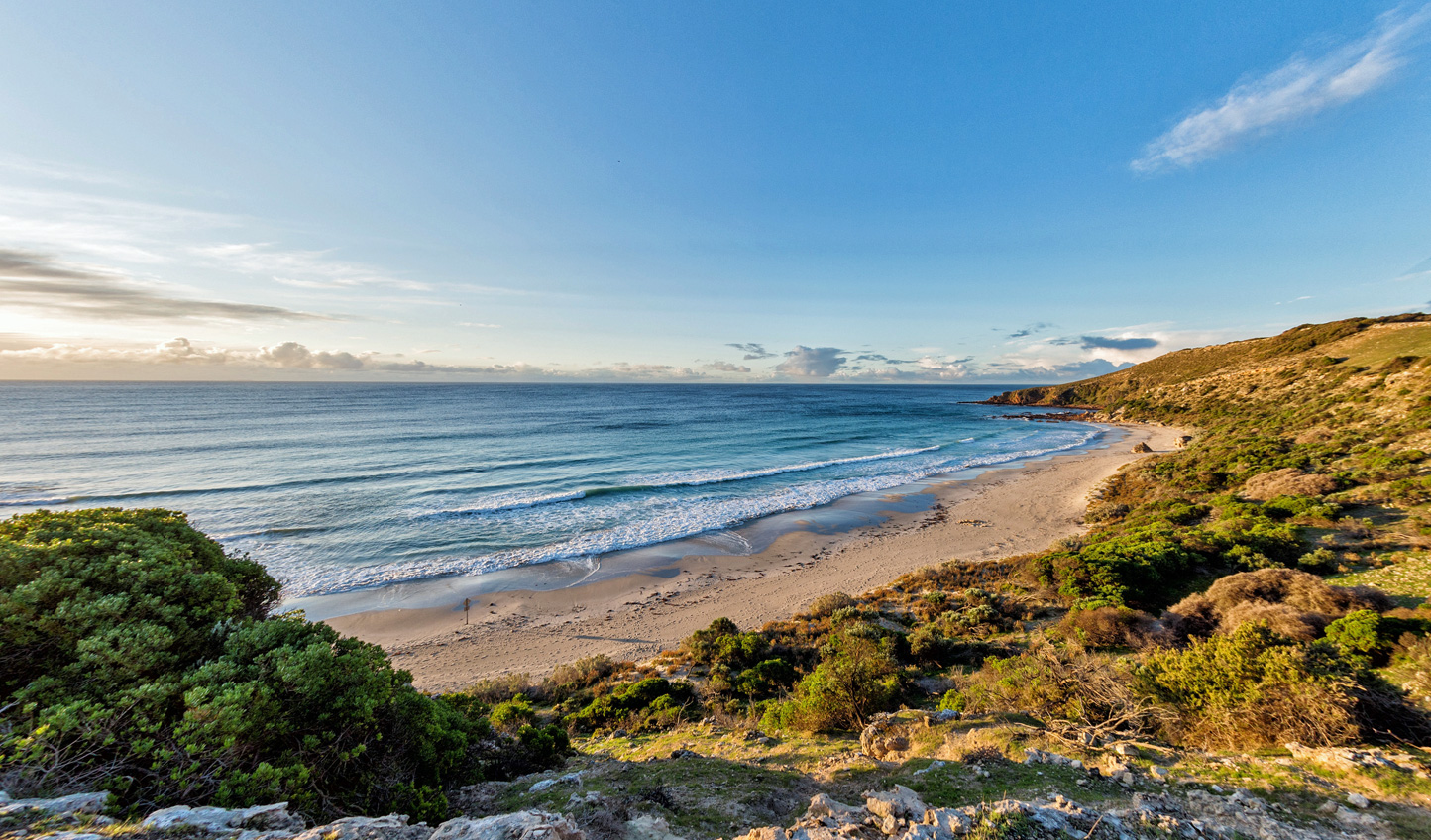 Take a walk along the sandy beaches of Kangaroo Island