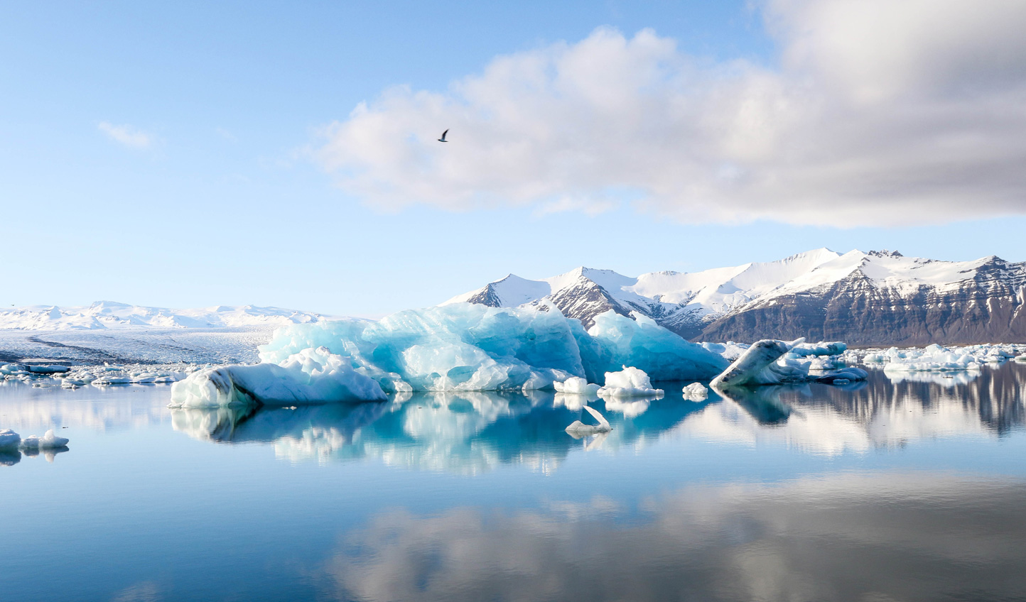 Glide across the serene waters of Jokulsarlon