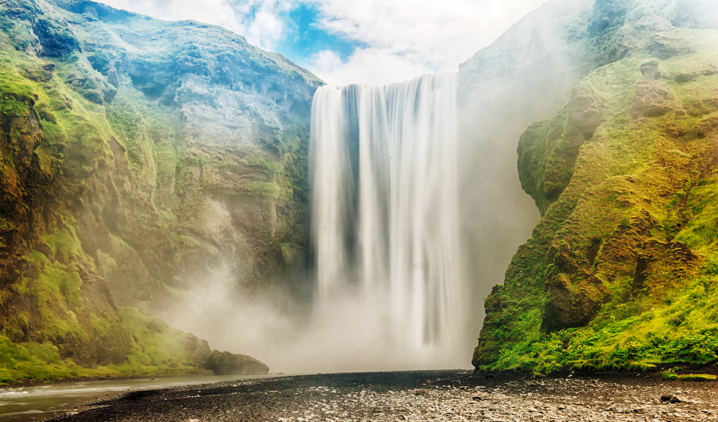 Step into the might of the Golden Circle with a visit to Skogafoss