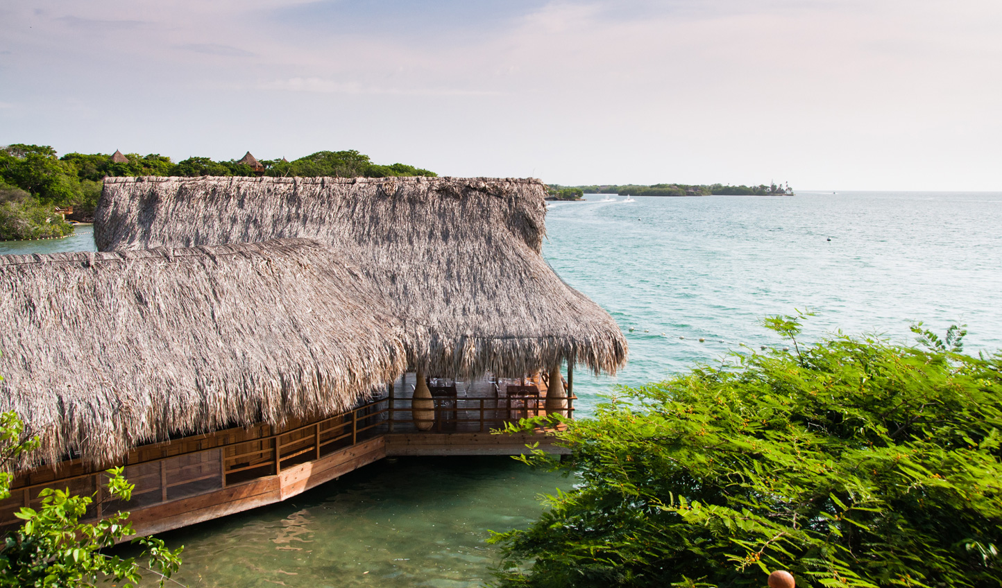 Swim up to the overwater ceviche bar