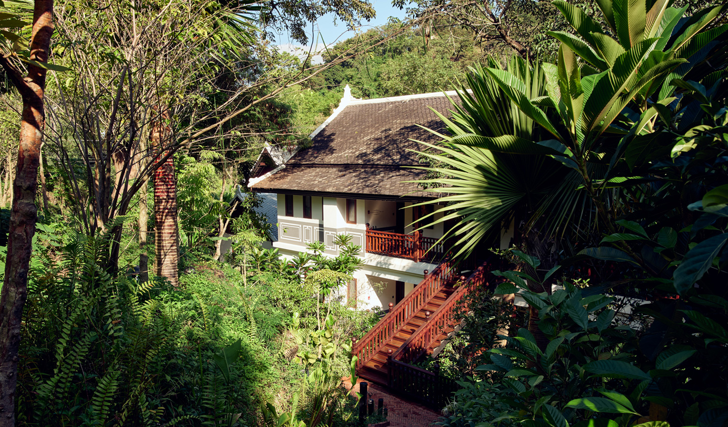 Each of the 23 rooms, suites and villas lie ensconced in lush jungle