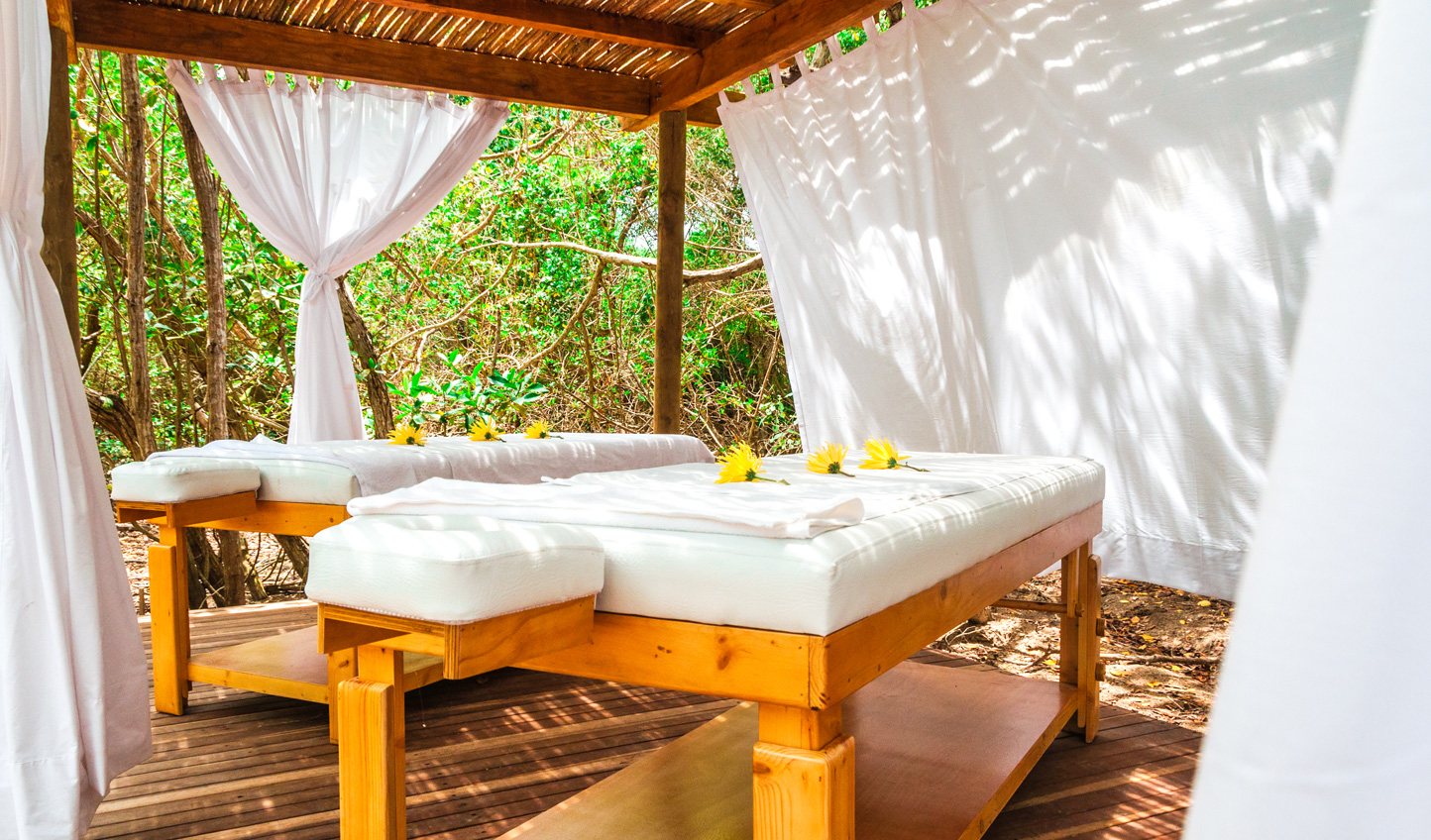 Enjoy a treatment out in the tropical breeze