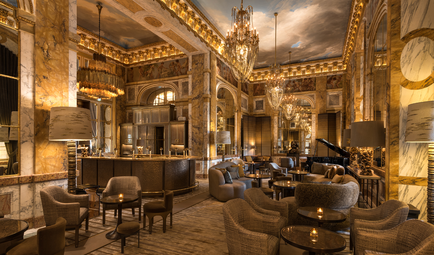 Step into Parisian grandeur at Les Ambassadeurs Bar at Hotel de Crillon