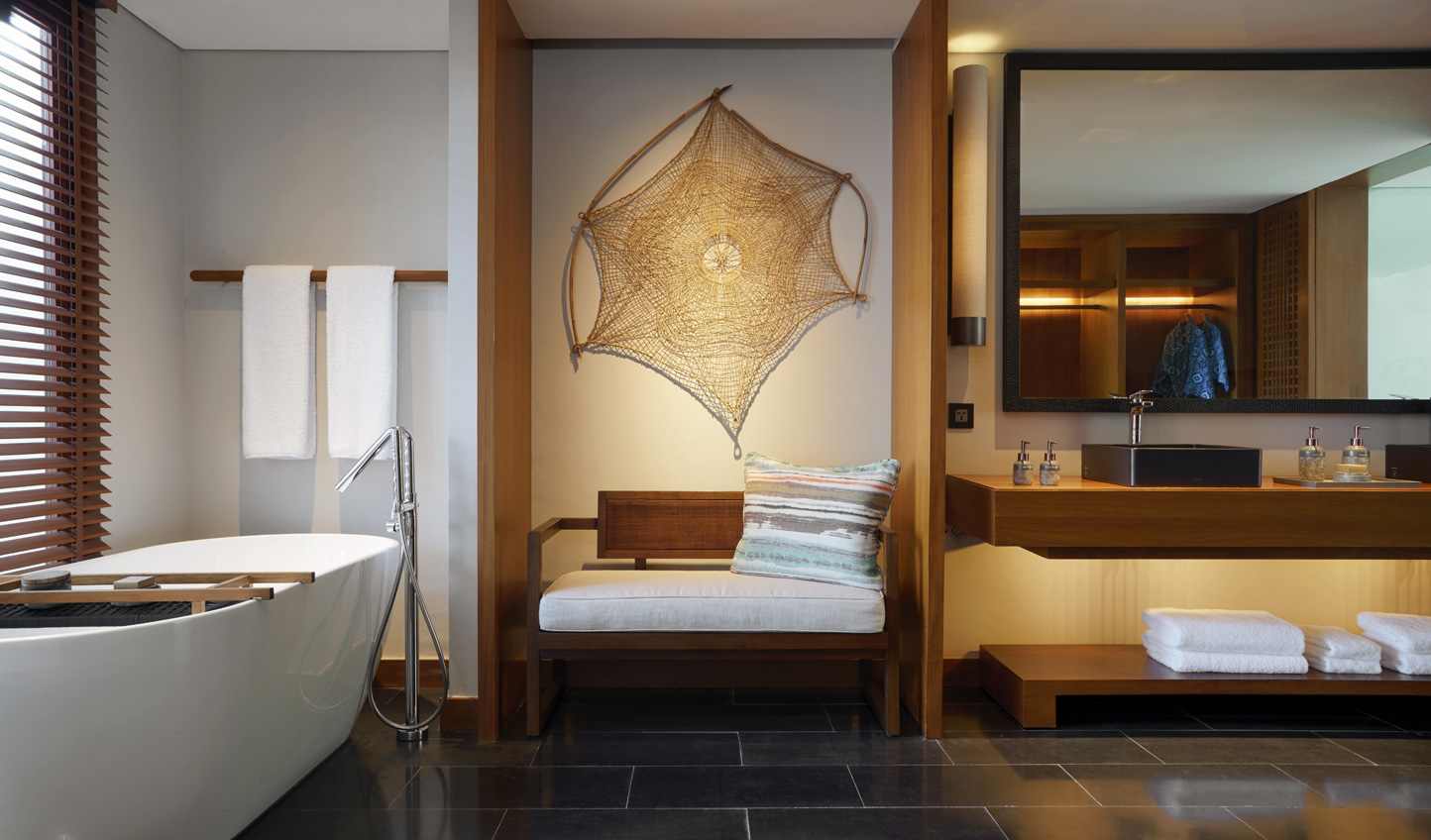Minimalist with touches of Balinese heritage