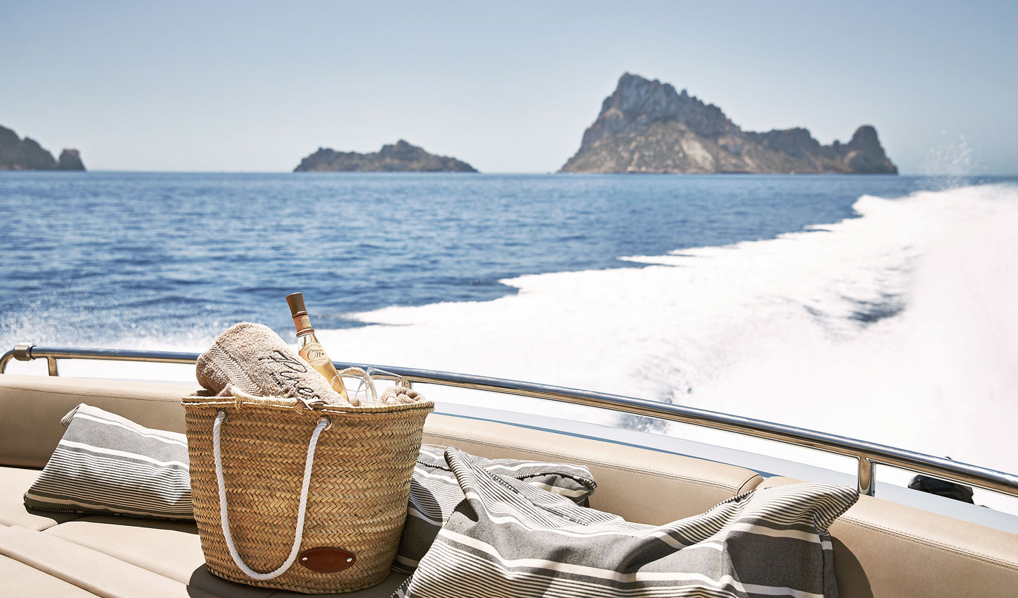 Pack a bottle and set sail in search of a quiet cove for the day