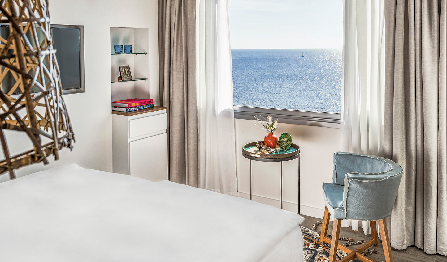 Wake up to views of endless blue