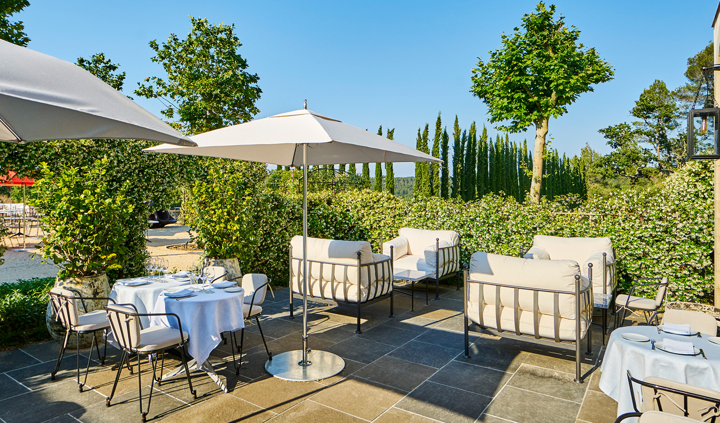 Soak in the Provencal sunshine out in the garden