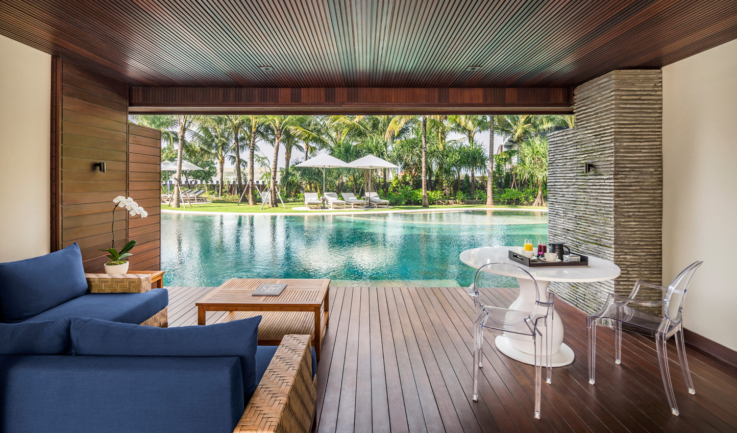 Step out of your room and dive straight into the lagoon pool