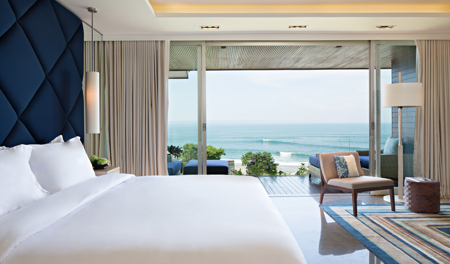 Wake up each morning to views out across the rolling waves