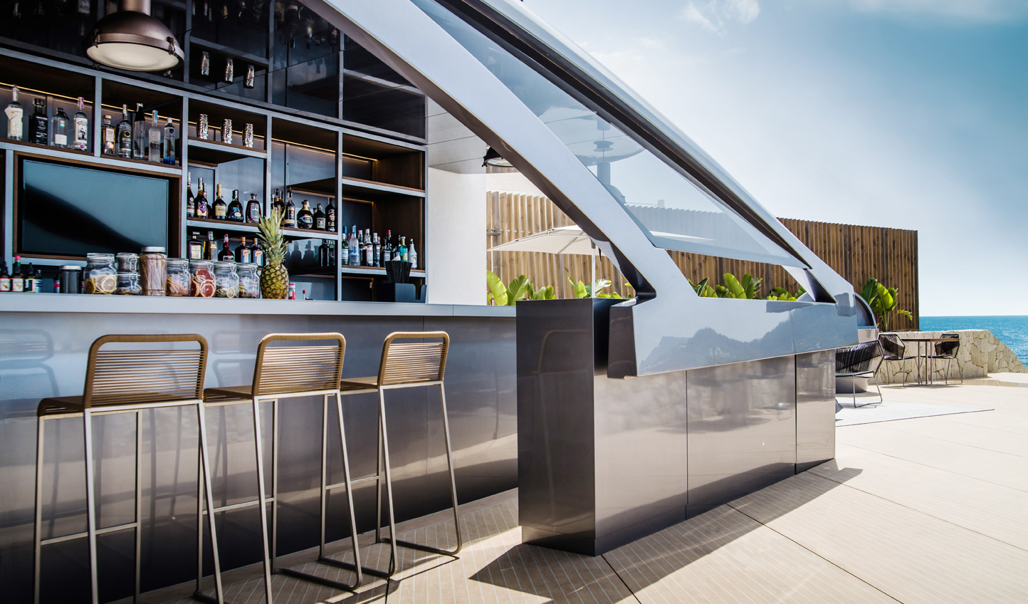 Sip on cocktails at the world's first Pershing designed bar