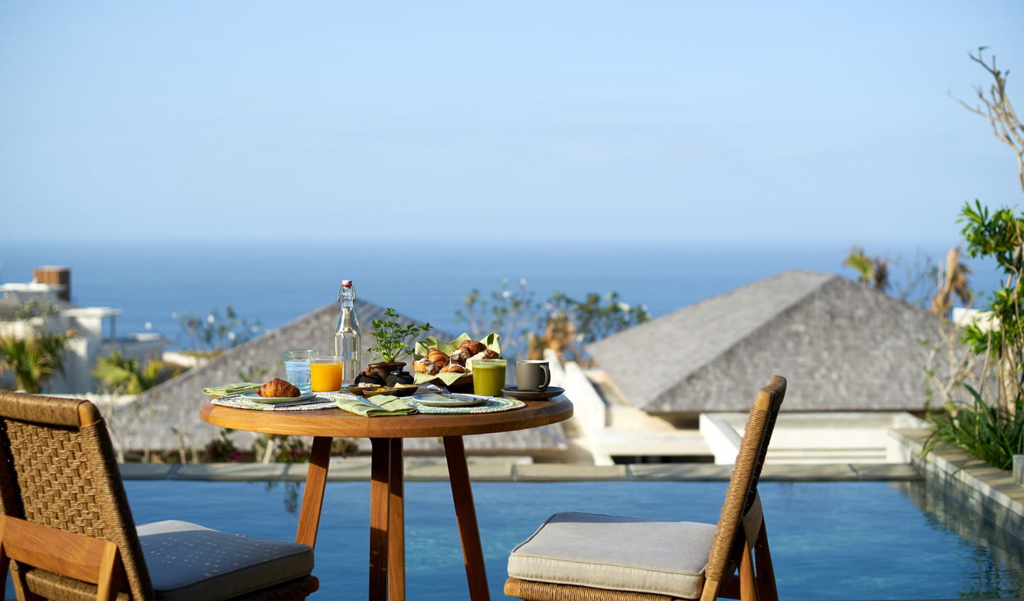 Enjoy a lazy morning in with breakfast out on your private terrace