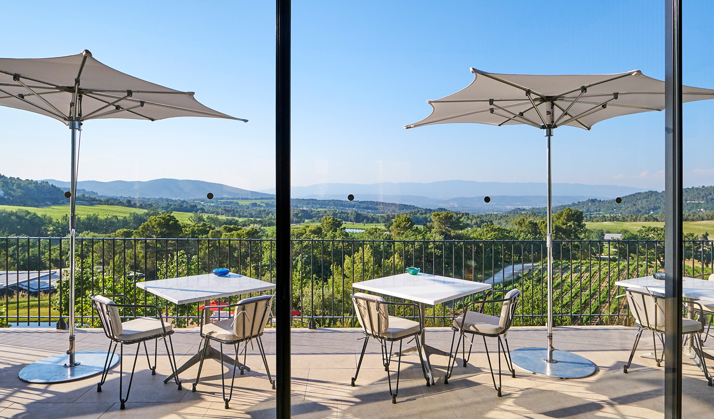 Enjoy views over the rolling hills