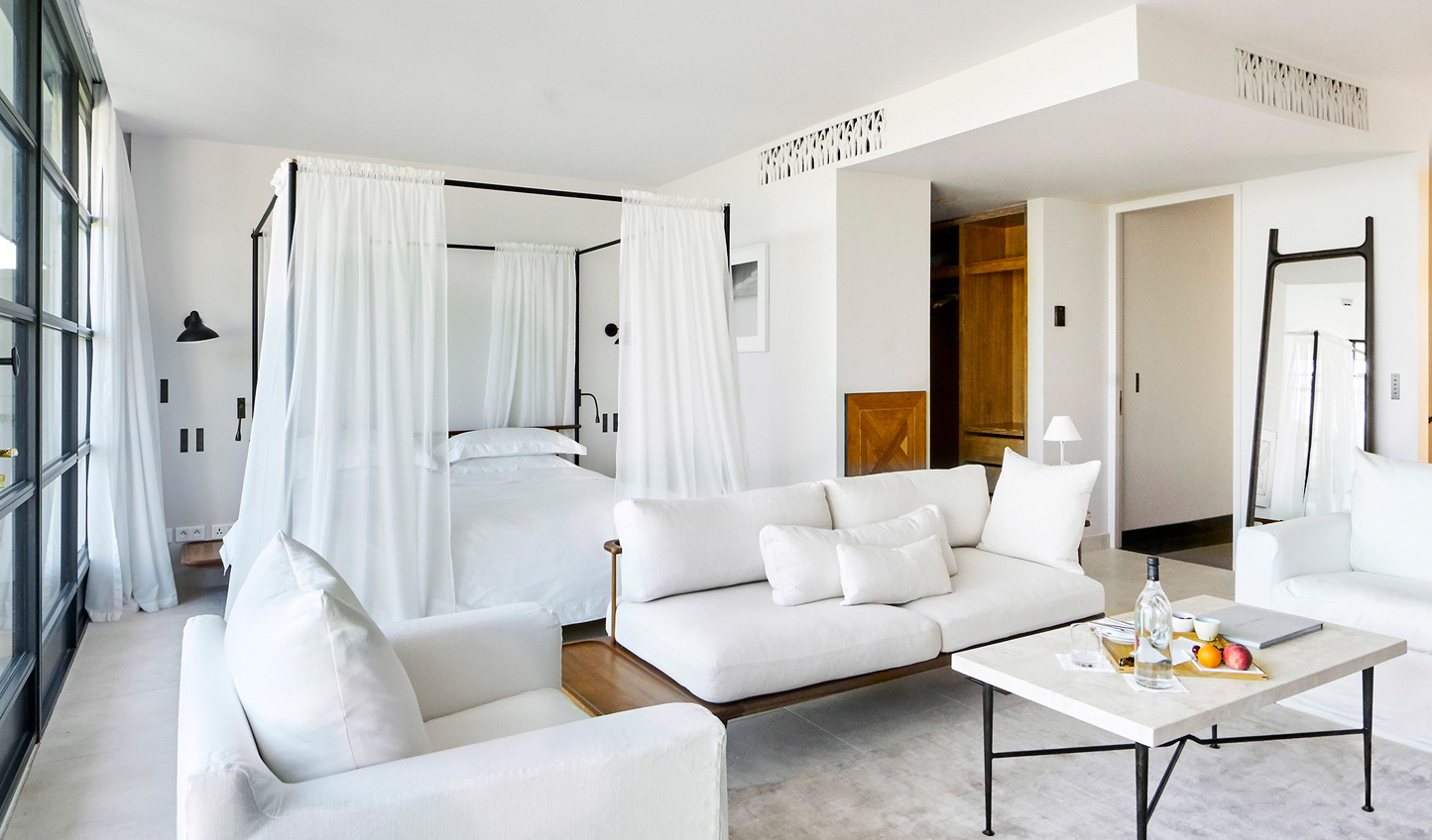 Neutral and contemporary, the Villa Suites at Villa La Coste are zen-like spaces in which to relax
