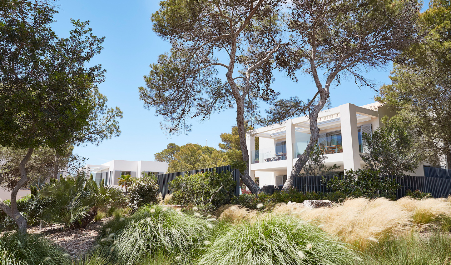 Dotted amid fragrant gardens, 7Pines much resembles a traditional Ibizan village