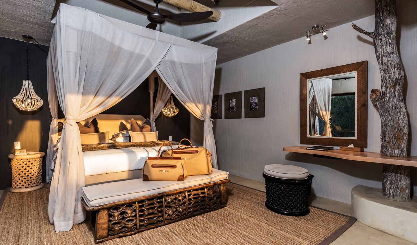 Rest up in luxury after days in the bush