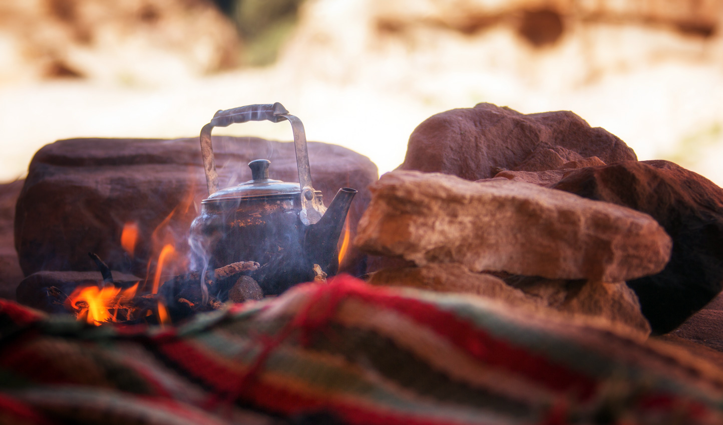 Settle down around the desert campfire
