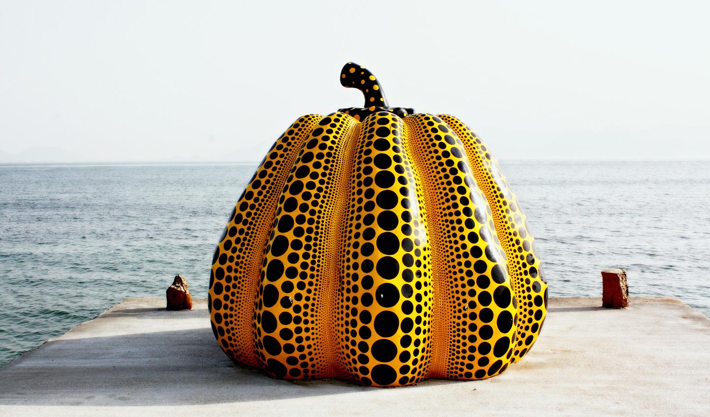 Naoshima's famous pumpkin sculptures