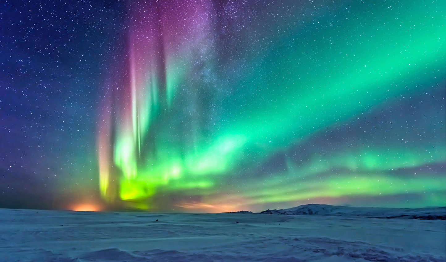 At night, seek out skies lit by the Northern Lights