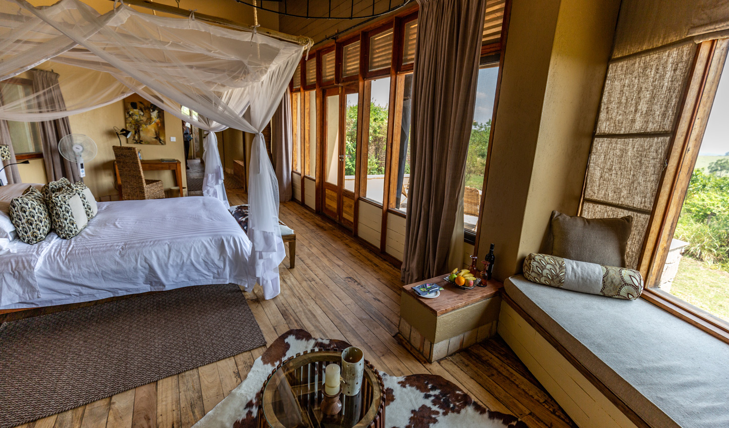 Wake up to views across Kyambura