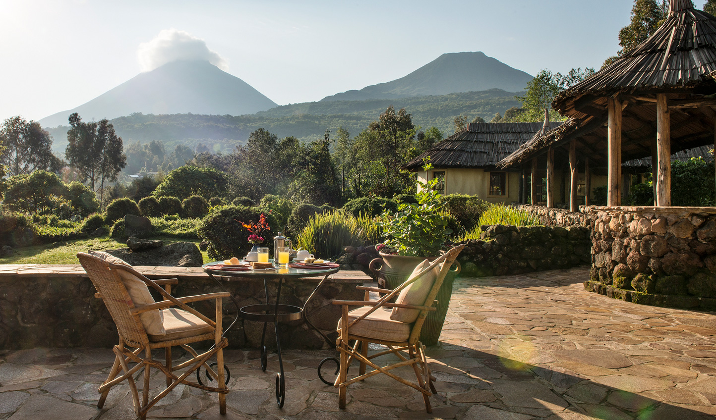 Enjoy breakfast out on the terrace, dining in the shadow of volanoes