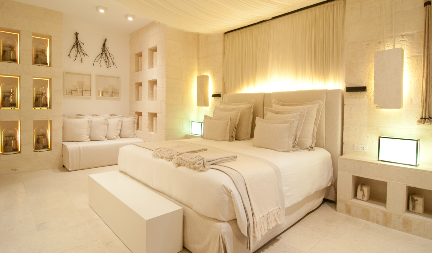 Cosy up in your luxurious room at Borgo Egnazia
