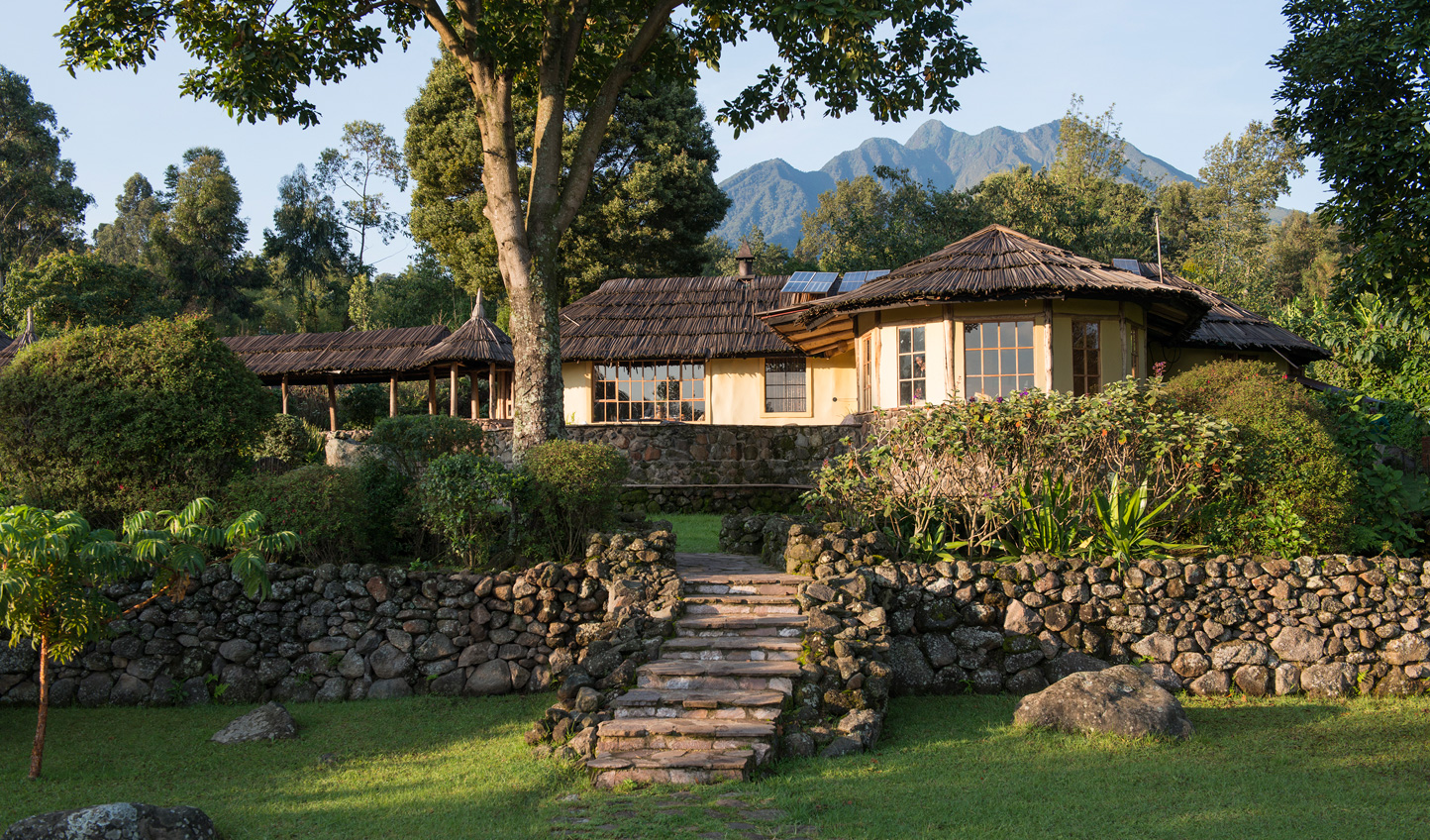 Feel at home with the gorillas at Mount Gahinga Lodge