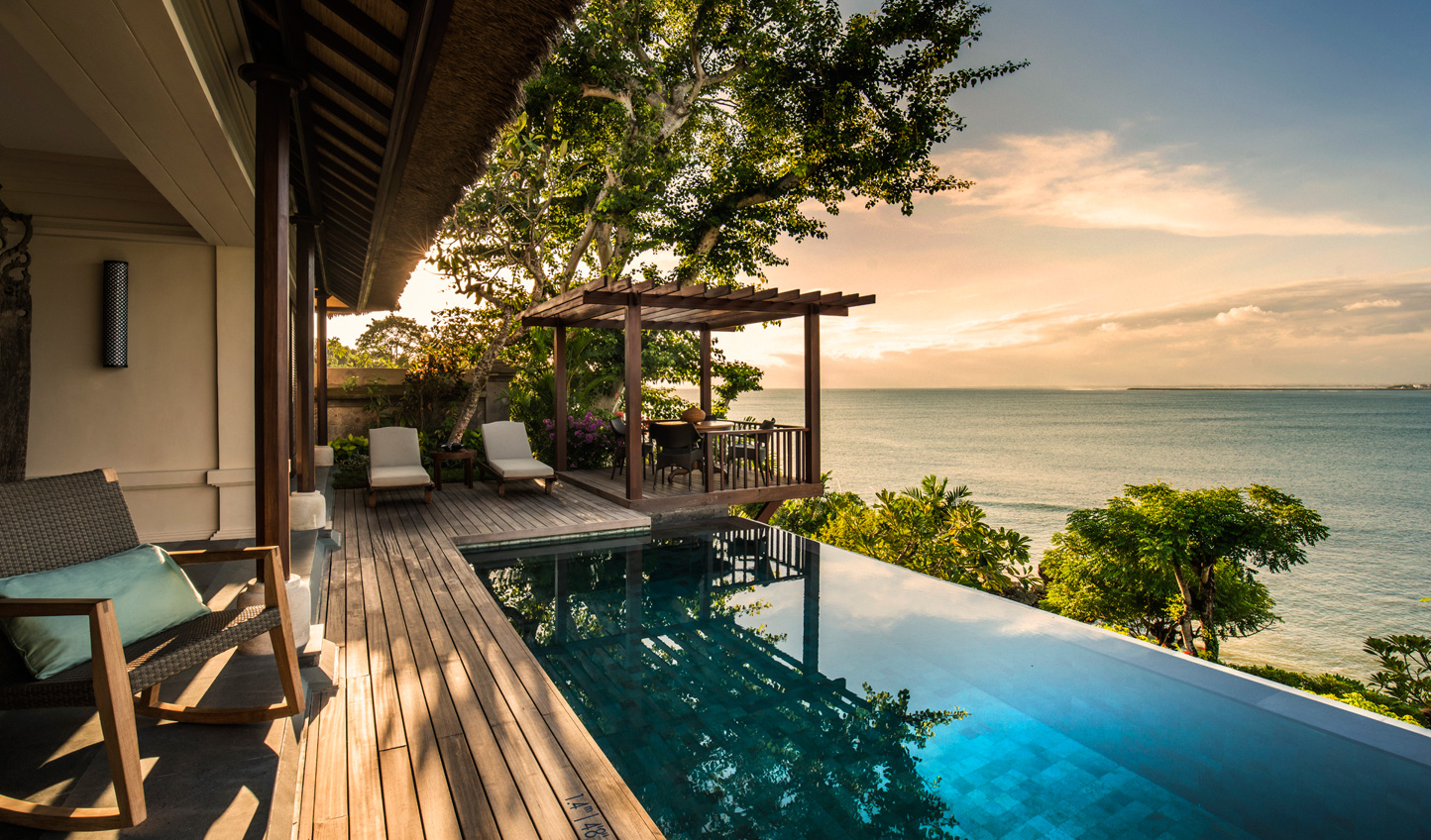 Catch the sunset from your private infinity pool