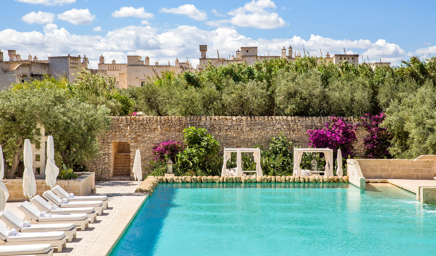 Cool off from the Mediterranean sun with a dip in the pool