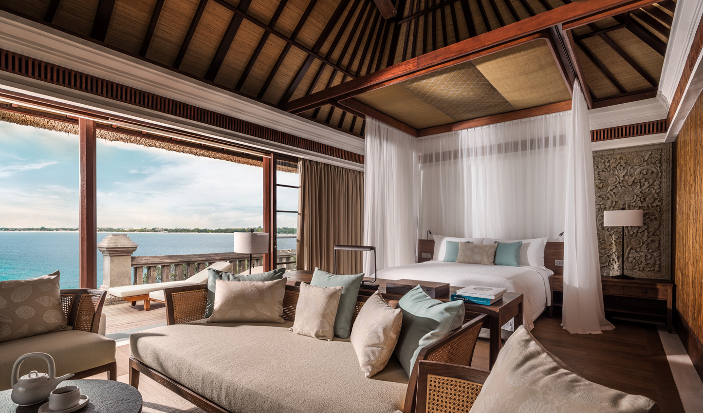 Swathed in luxurious fabrics, the villas are fit for royalty