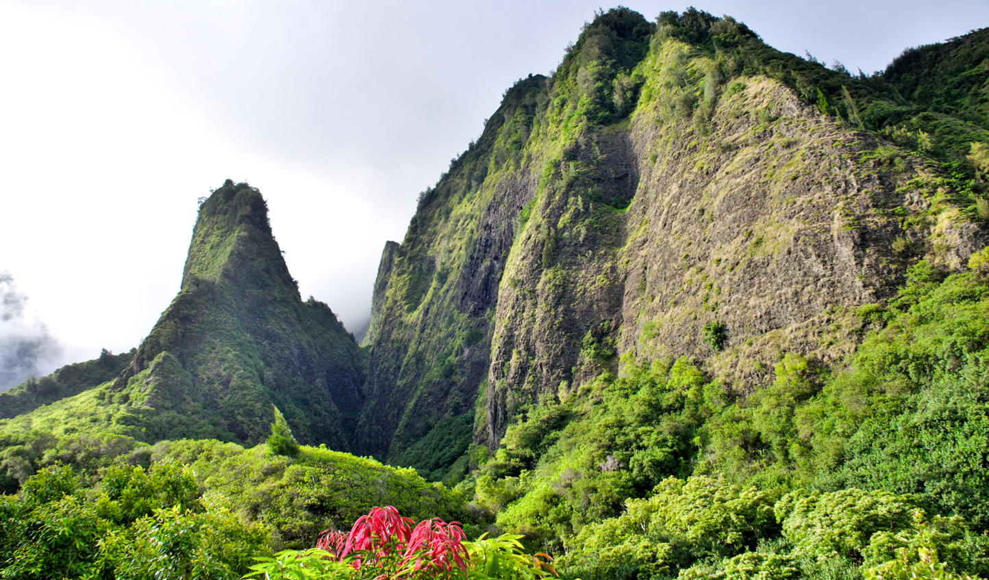 End your trip hiking through the natural beauty of the Iao Valley