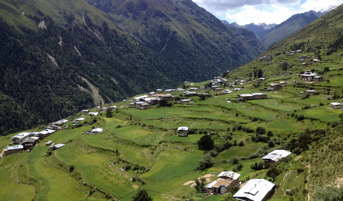 Hike into the remote village of Laya