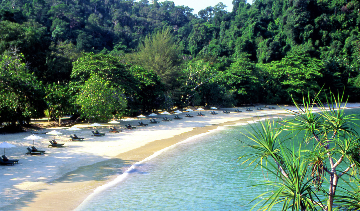 Relax on the pristine beaches of Pangkor Laut