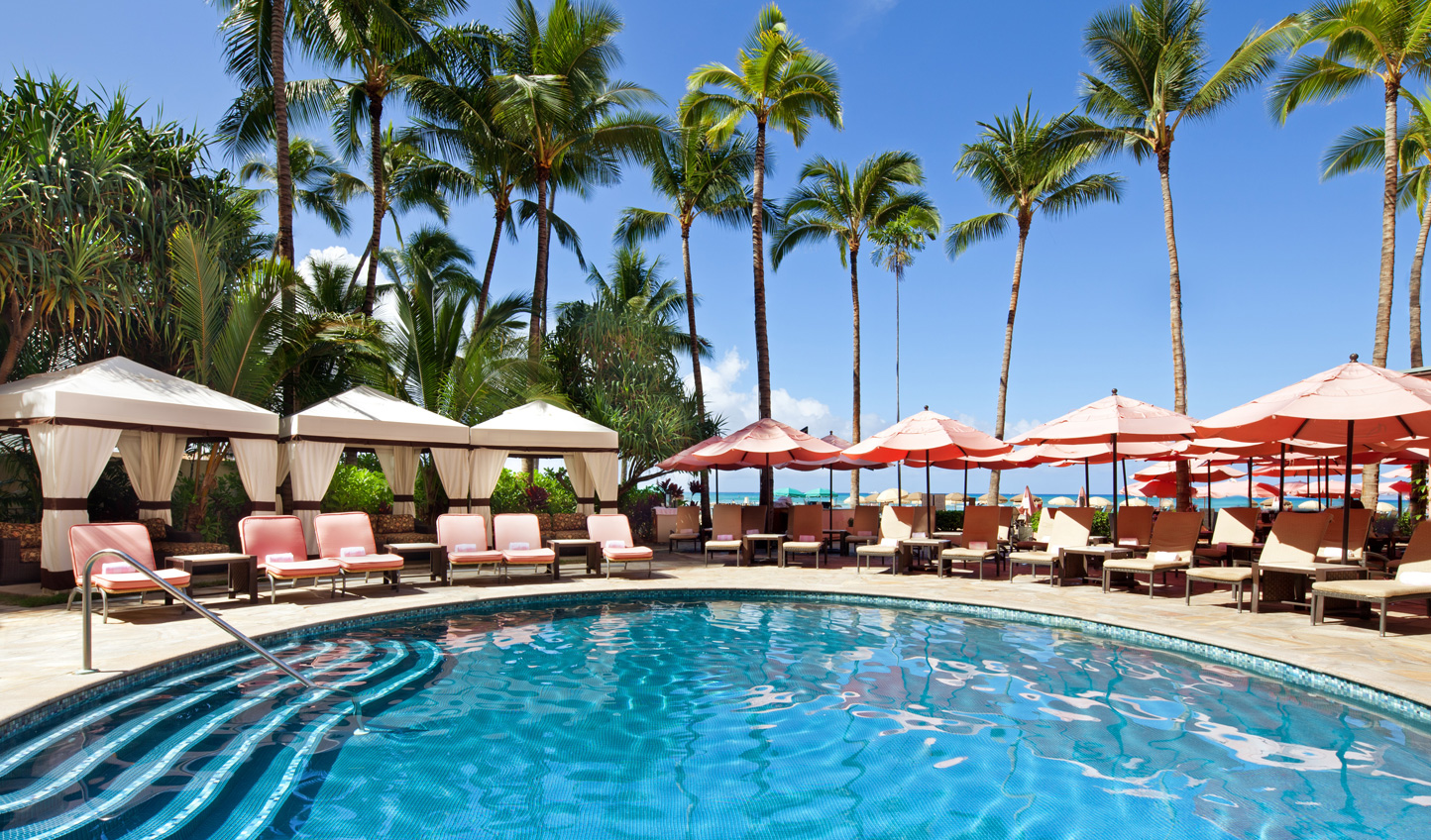 Relax by the pool at the Royal Hawaiian