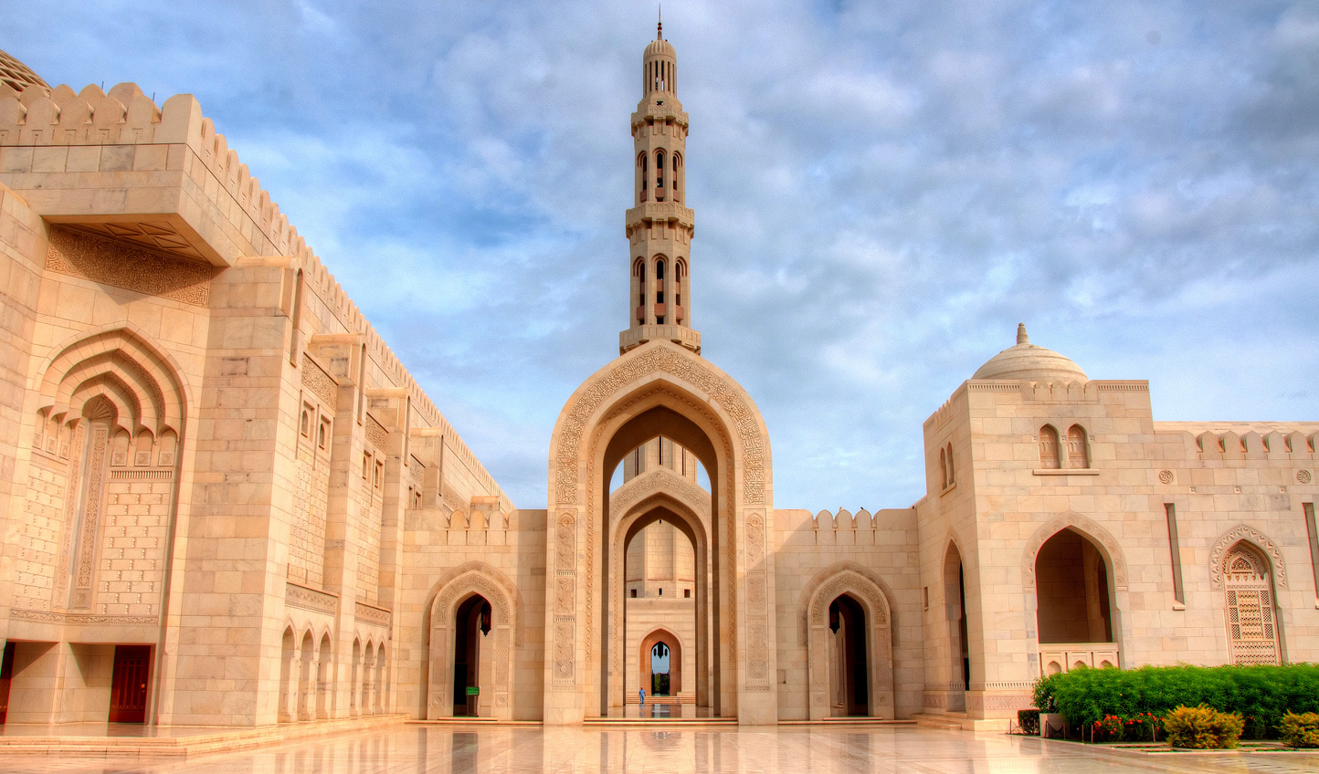 Visit the architecturally stunning Sultan Qaboos Mosque