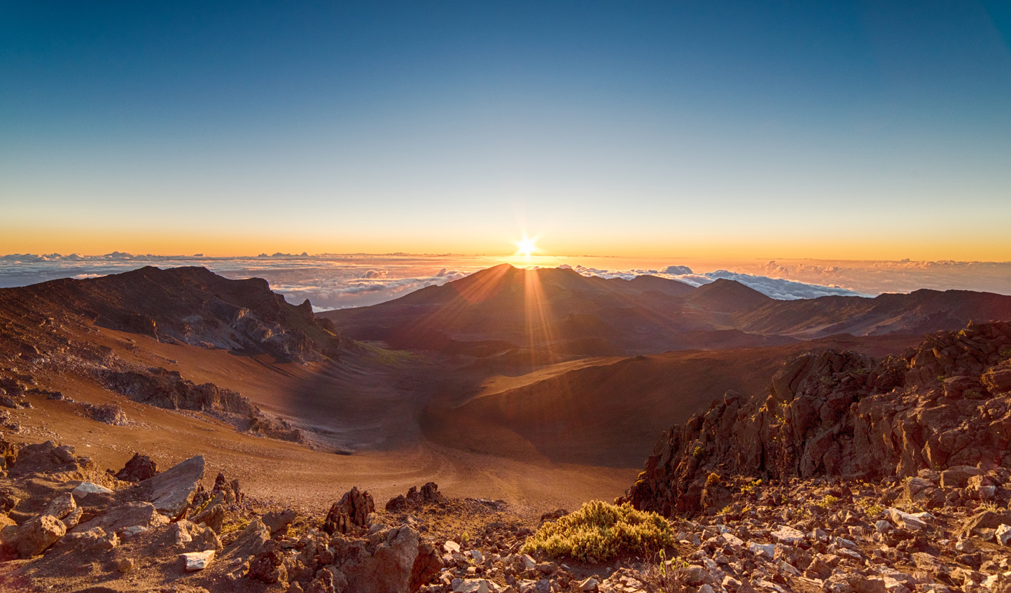 Start the day bright and early watching the sunrise over Haleakala National Park