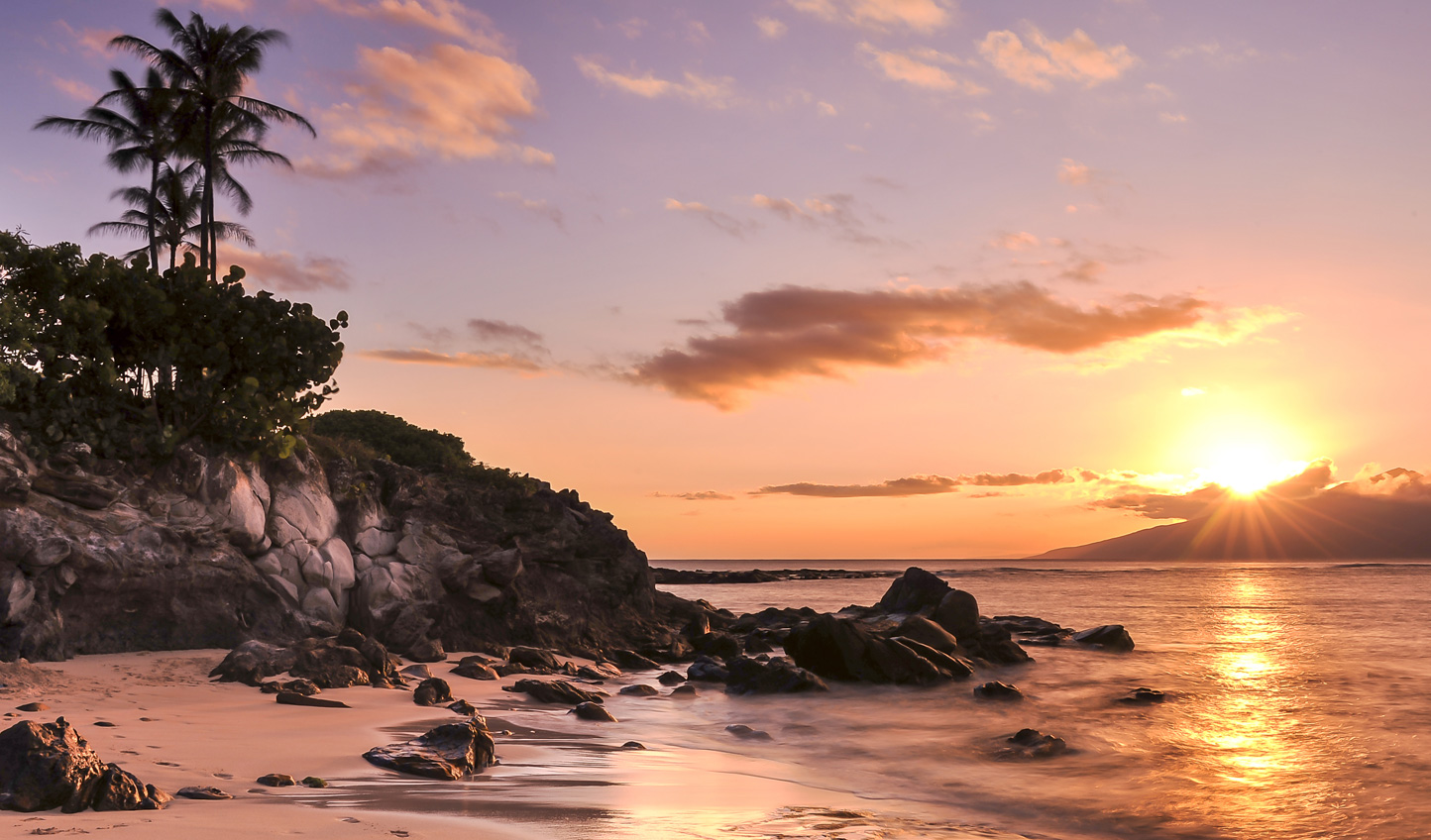 Find a quiet corner of Maui and watch the sunset light up the sky