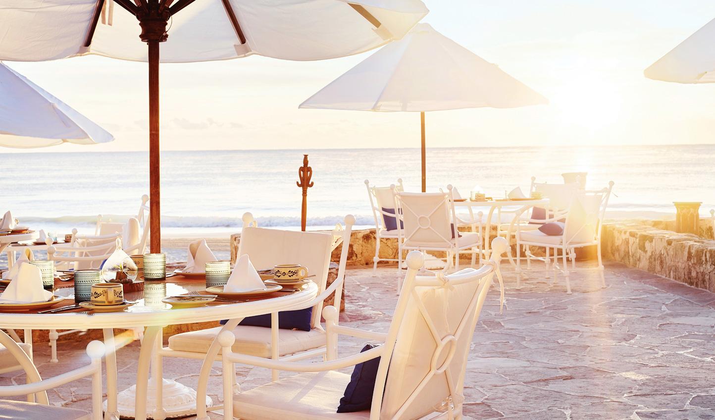 Dine beachside at Belmond Maroma
