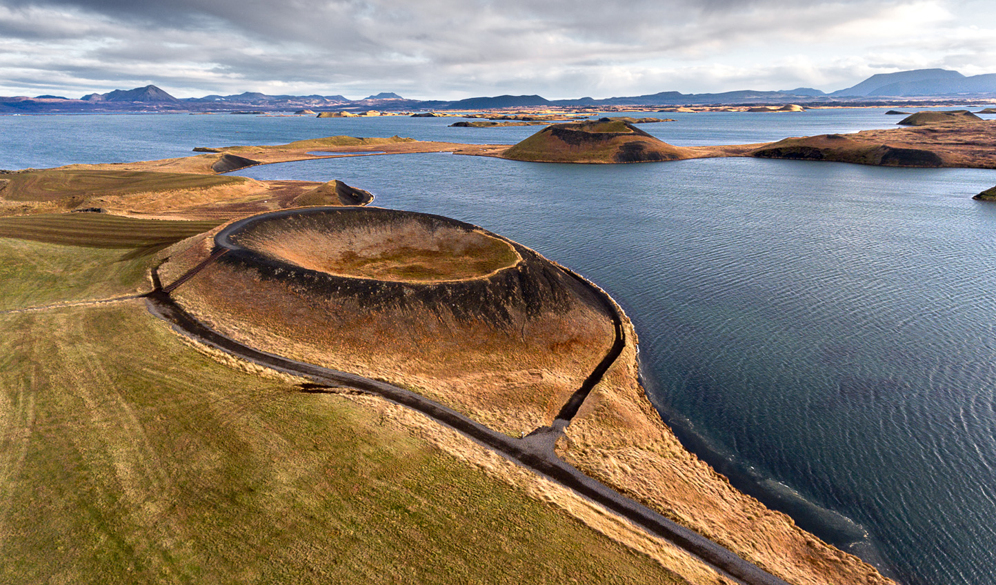 Landscapes carved by centuries of volcanic activity