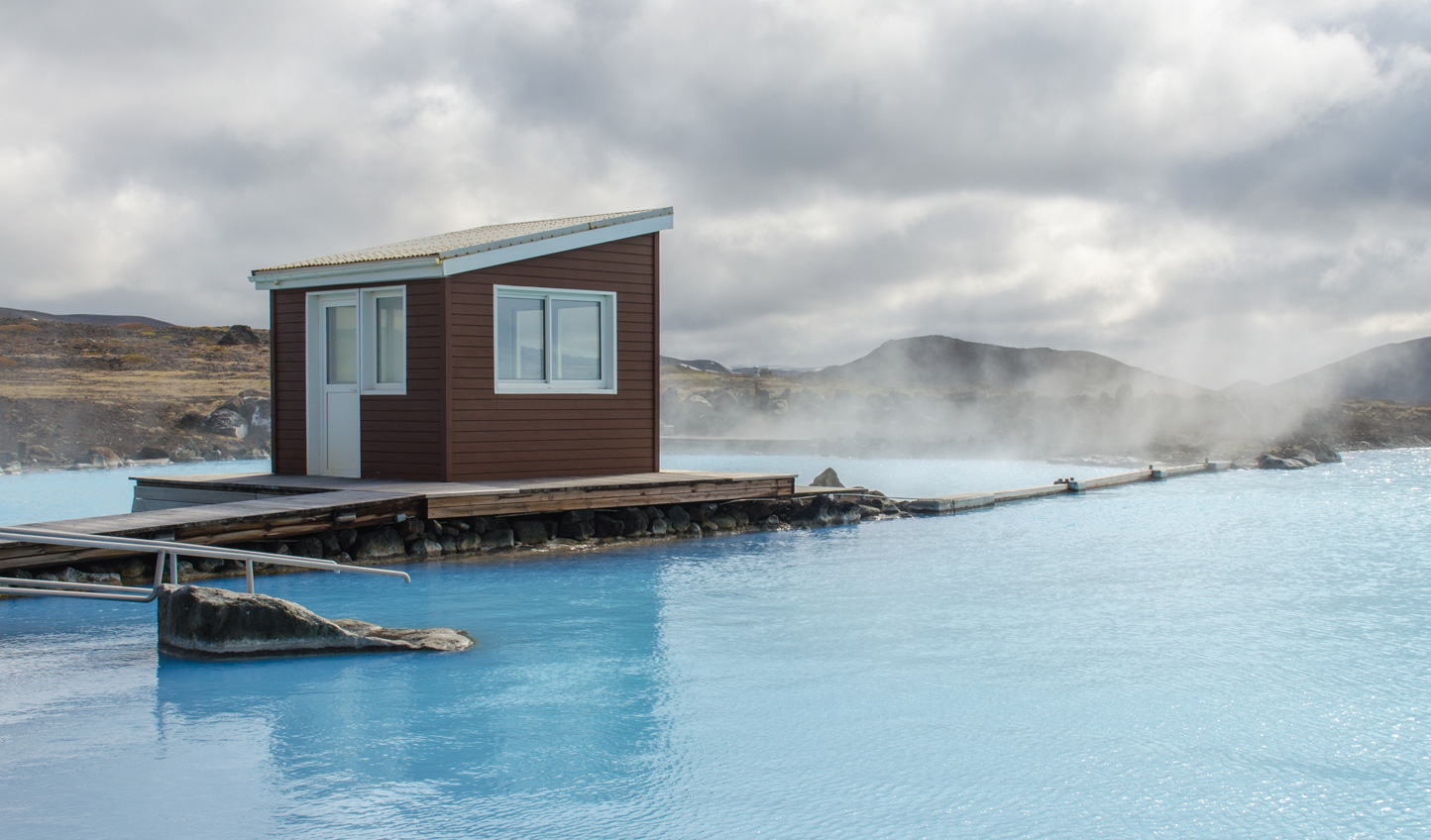 Spend the afternoon soaking in your surroundings at the Myvatn Nature Baths